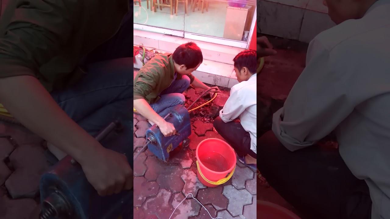 Thông tắc ống thoát nước tại Thái Hà - Hà Nội 0981287998 - YouTube