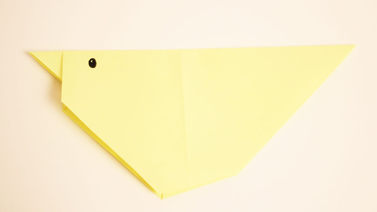 Como hacer un pollito de papel animales de papel - Como hacer cadenetas de papel para fiestas ...