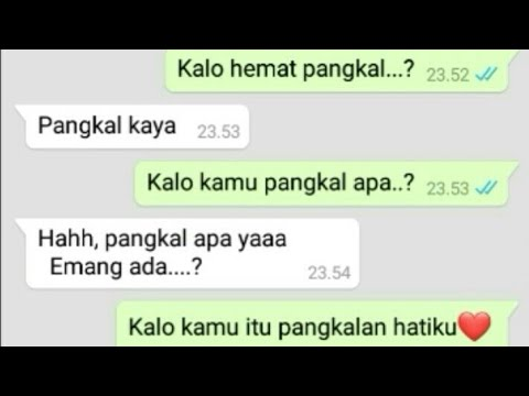 Chat Wa Gombal Romantis Auto Bikin Baper Youtube