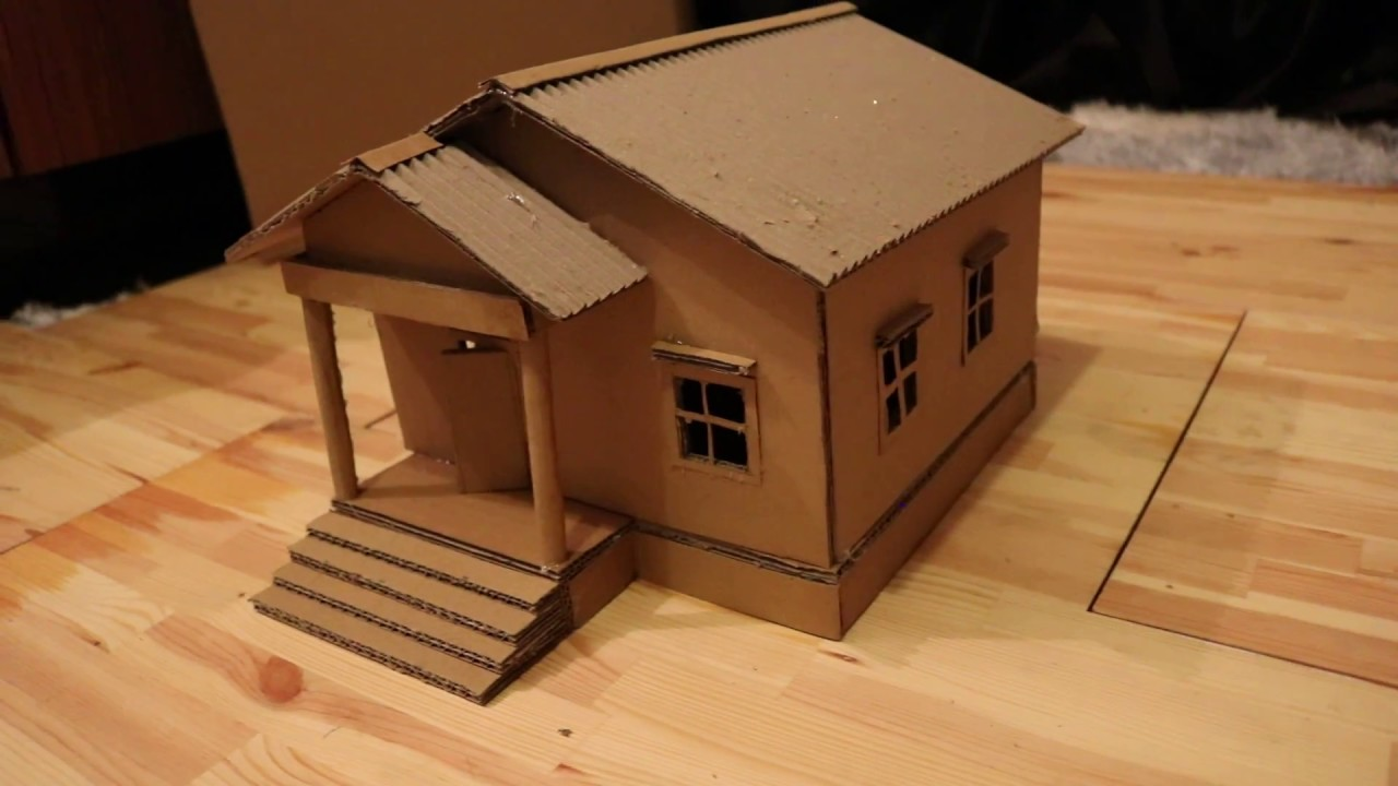Faire Une Belle Maison En Carton Bricolage Simple Youtube