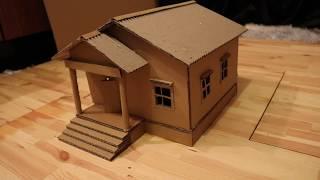 Faire une belle maison en carton.   Bricolage simple