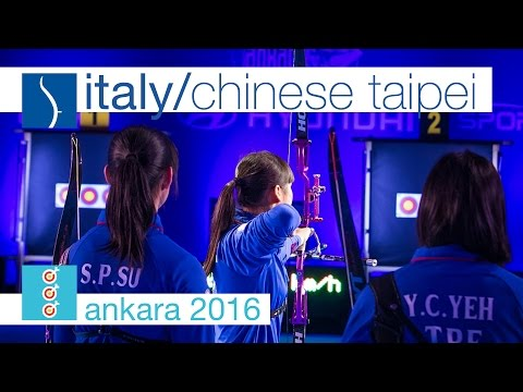 Italy v Chinese Taipei – Recurve Junior Women's Team Gold Fi