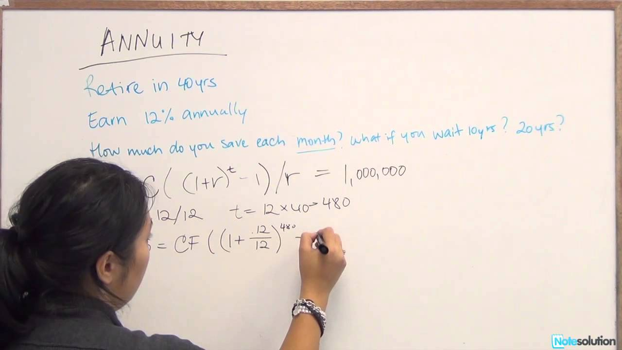 Finance: How to calculate Annuity Payments (Medium lvl question ...