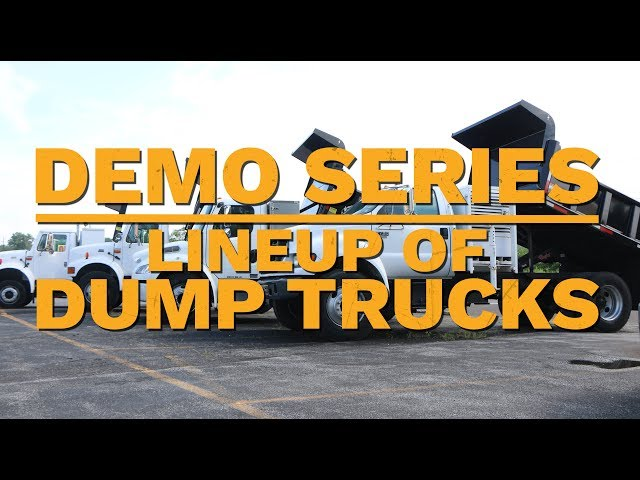 Lineup of Dump Trucks | Truck Demo | Royal Truck & Equipment