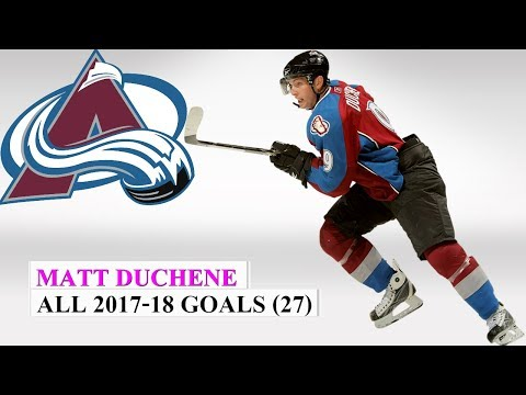 Matt Duchene (#9) All 27 Goals of the 2017-18 NHL Season