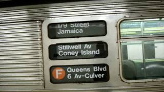 Coney Island Bound R32 F Train @ Delancey/Essex Streets
