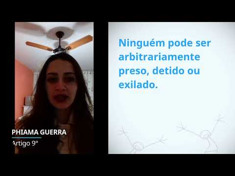Phiama Guerra, Brazil, reading article 9 of the Universal Declaration of Human Rights
