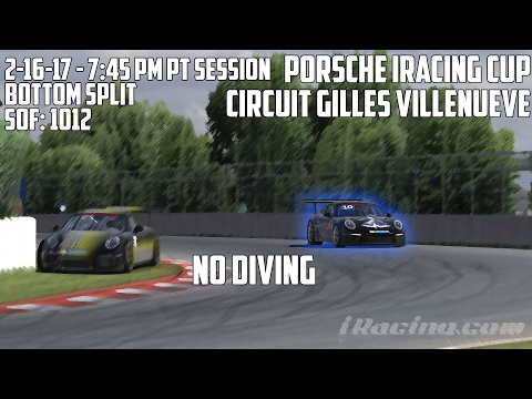 iRacing: No Diving (Porsche Cup @ Montreal)