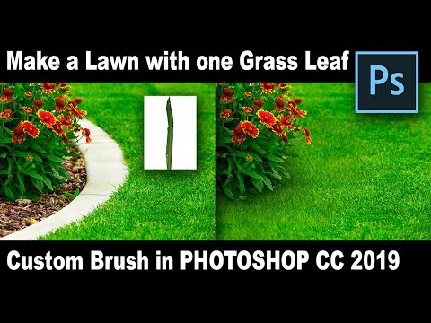 The Power Of Photoshop Custom Brushes -Make A Lawn With Just One Grass Leaf