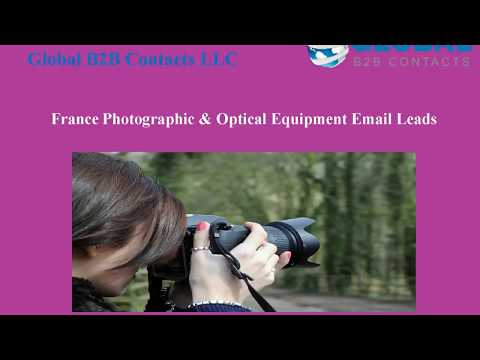 France Photographic & Optical Equipment Email Leads