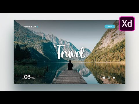 Adobe Xd Web Design - How to design a simple website in Adobe Xd for beginners