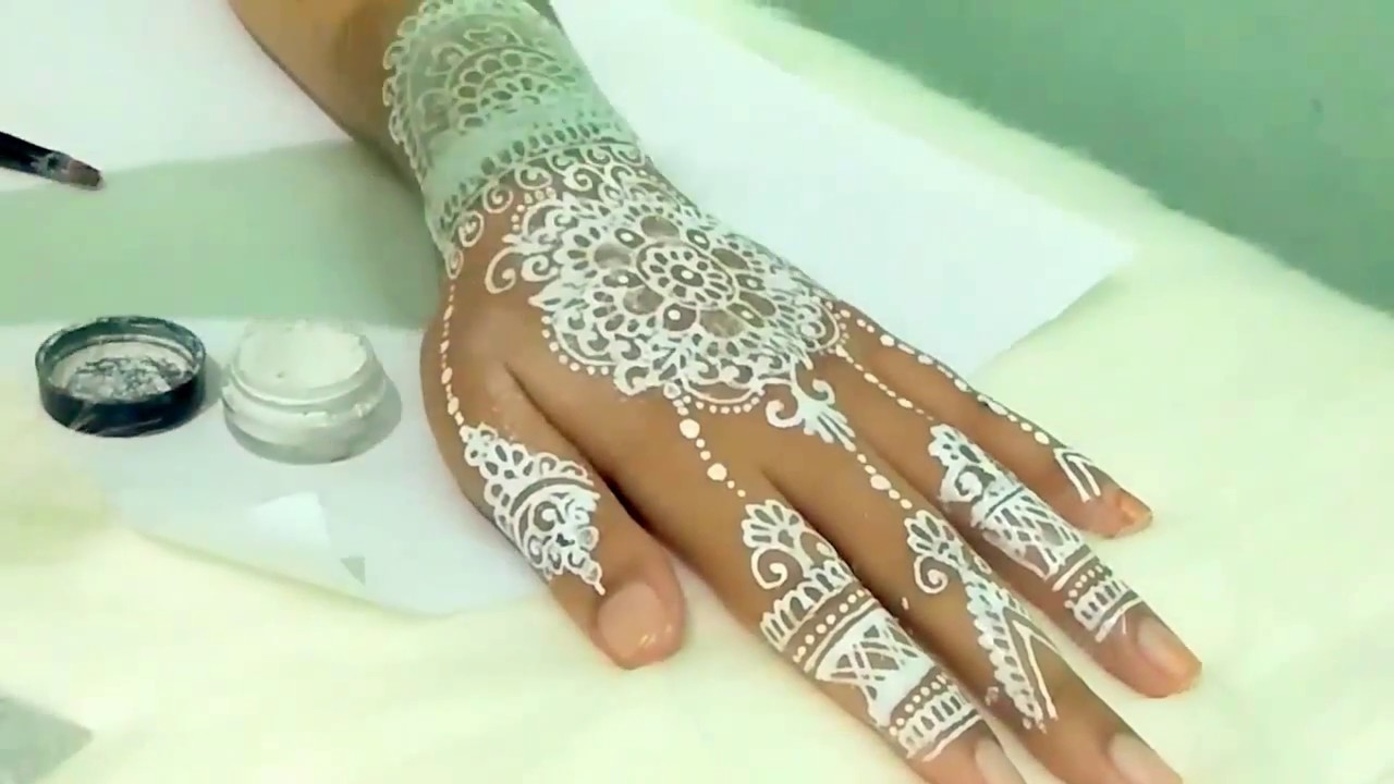 Tutorial White Henna Swarowski For Wedding By Gita Henna Art Youtube