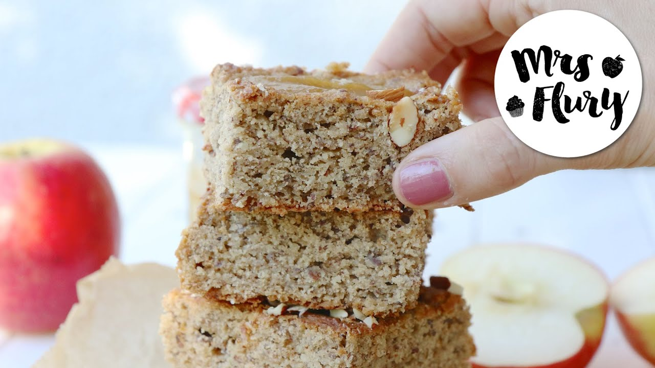 Gesunder Apfelmus Kuchen Mit Nussen Glutenfrei Youtube