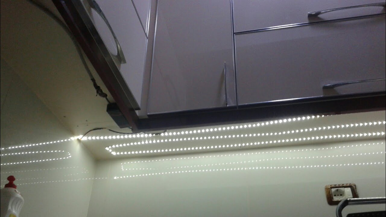 Light Up A Kitchen How To Install Led Strip Under Cabinet