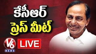 CM KCR PRESS MEET LIVE | Telangana Cabinet Meet | TSRTC Strike | V6 News
