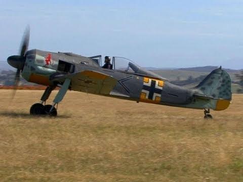 German WW2 Focke Wulf FW190 Taxis During Trials