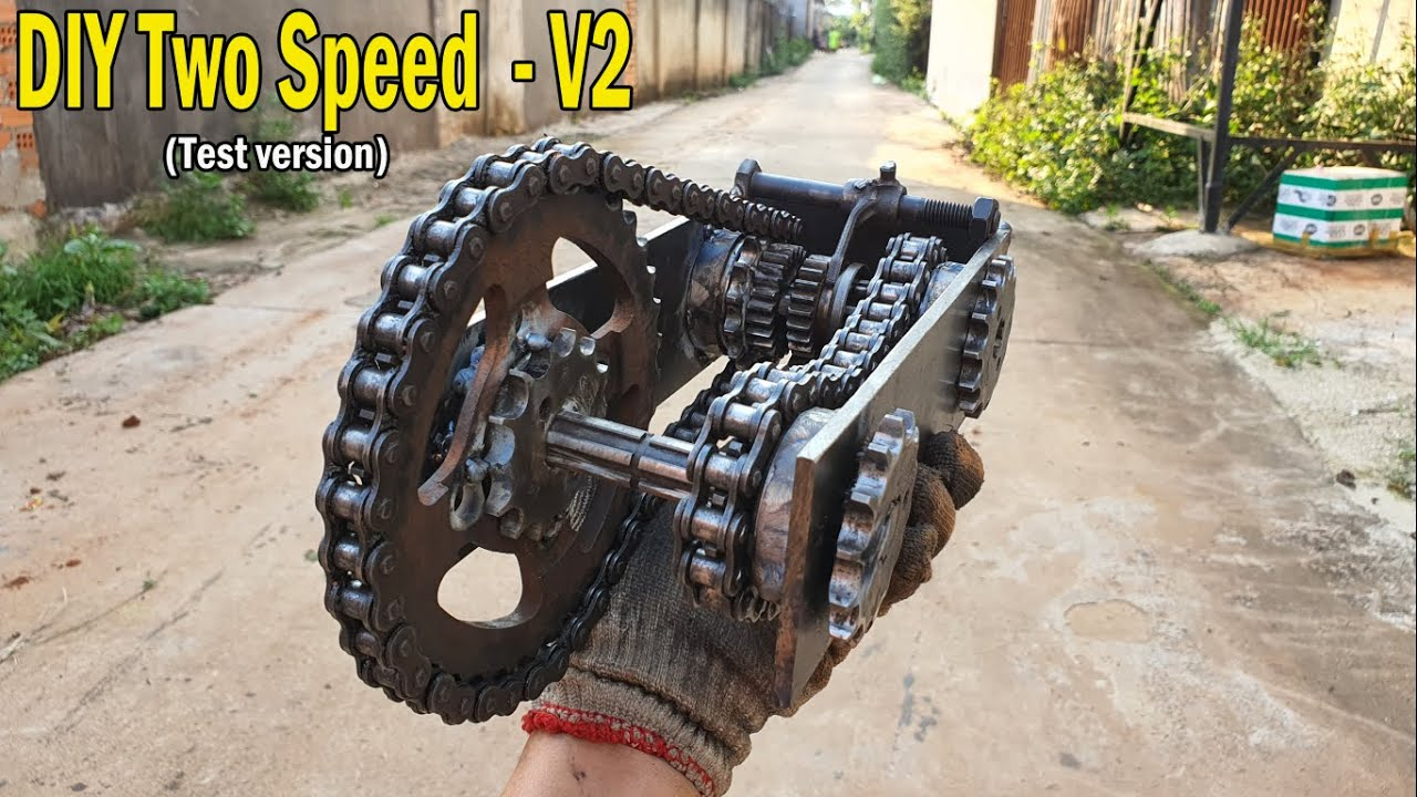DIY Two Speed Gearbox for Go Kart - V2 -Very easy
