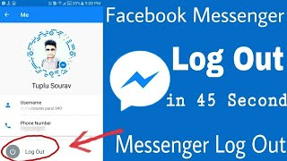 HOW TO LOG OUT FROM FACEBOOK MESSENGER ON ANDROID 2018 NEW