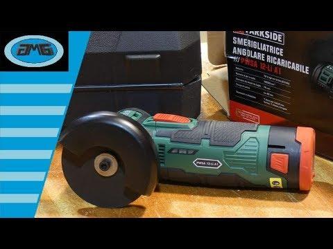 9f8a594978c5e Parkside PWSA 12-Li A1 Rebarbadora Bateria - SMERIGLIATRICE ANGOLARE -  MEULEUSE D'ANGLE SANS FIL