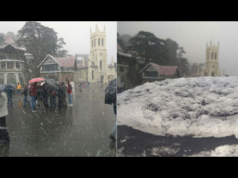 Himachal Pradesh : School Campus blanketed with snow fall