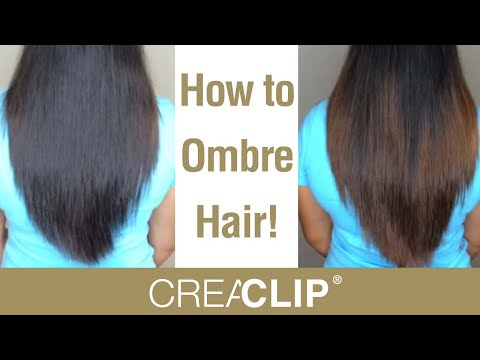 How to DIY Ombre color at home! Color your own hair! - 동영상