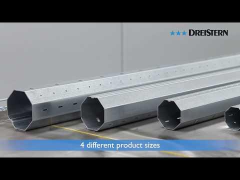 DREISTERN rollforming line for Roll-up Shutter Shafts // Profilieranlage für Wickelwellen