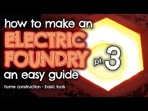 How to make an ELECTRIC Furnace (Foundry) for metal casting Part 3 by VOG (VegOilGuy)