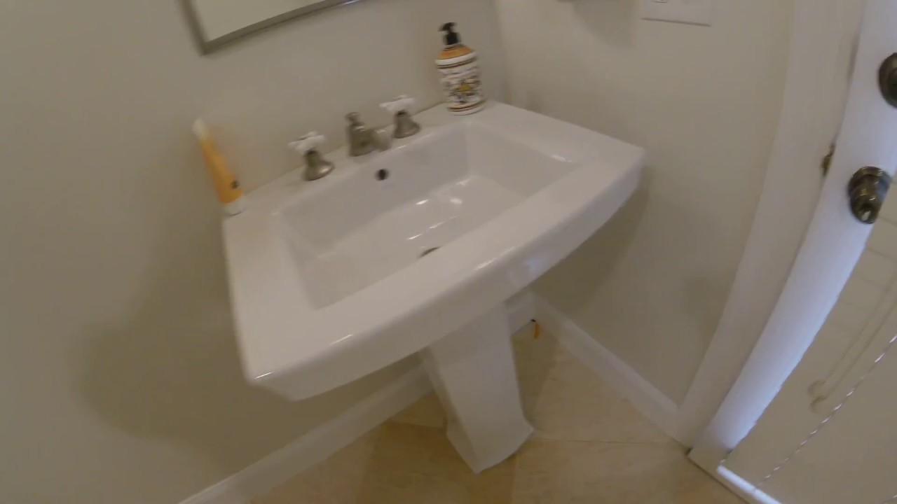 KOHLER Archer Pedestal Bathroom Sink review - YouTube