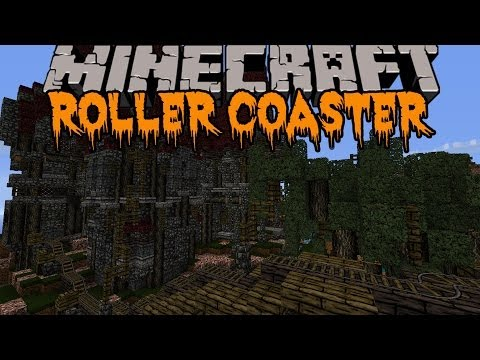 Thumbnail: Minecraft: HALLOWEEN ROLLER COASTER! (HUGE SCARY ROLLER COASTER) Build Showcase