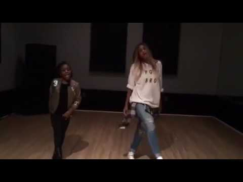 Pregnant Ciara dance video with 11yr old girl (Jene Marie)