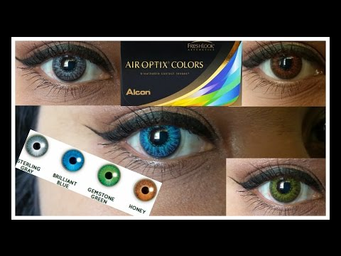 ~Air Optix~ All Vibrant Colors on Dark Brown Eyes