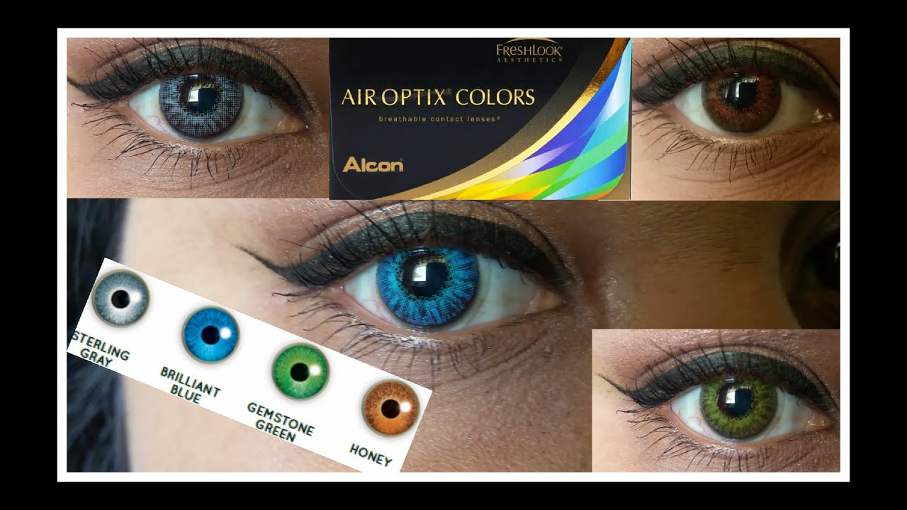 Air optix all vibrant colors on dark brown eyes doovi for Show me the color green