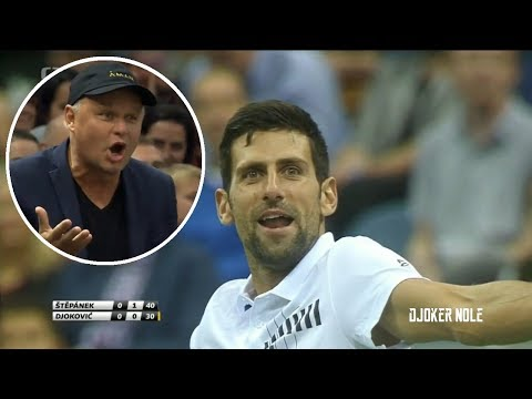 FUNNY!!! Vajda teaches Djokovic how to hit a smash - Prague 2018 (HD)