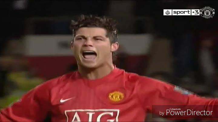 el mejor gol de tiro libre  cristiano ronaldo manchester united