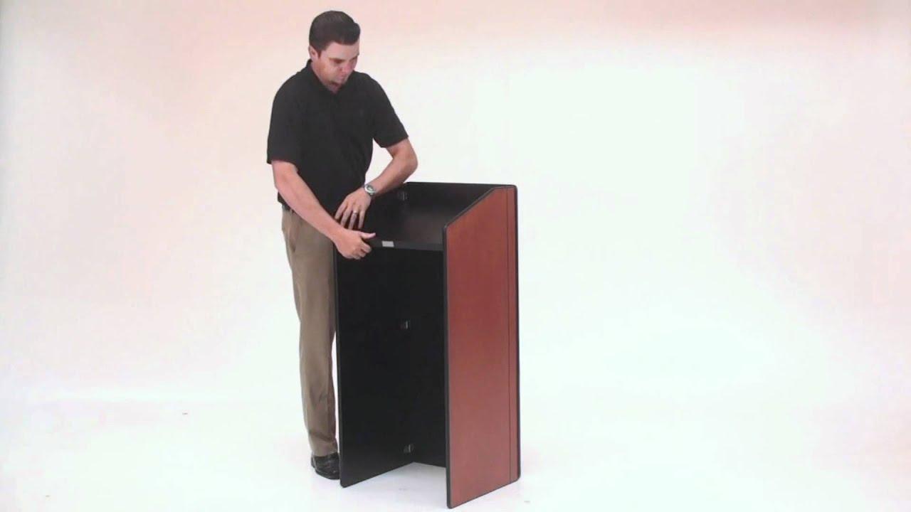Portable folding podium youtube portable folding podium malvernweather Image collections