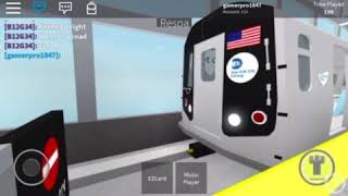 MTA roblox r160 R train arriving and leaving Time sq 42 st