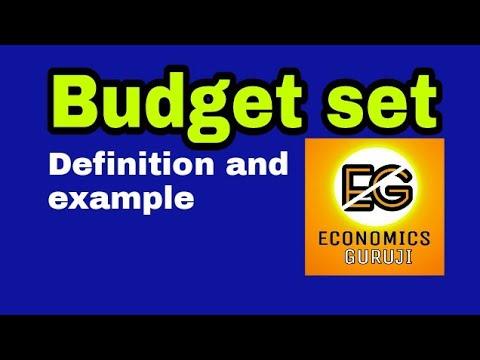 Budget set.  or Budget set of a consumer.