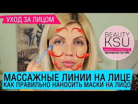 Массажные линии лица. Как не растянуть кожу при нанесении масок и кремов