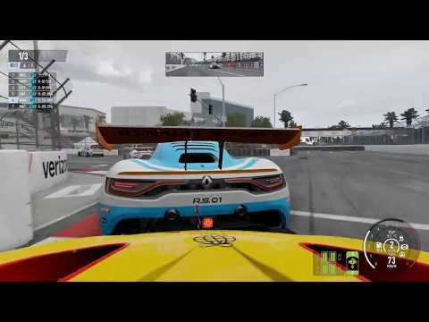 【Pro CARS 2】RENAULT R.S. 01 GT3【雨】Long Beach [13th→1st]
