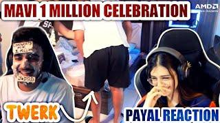 Mavi 1 million celebration  | Mavi twerk on stream | Payal ,scout , regaltos reactions