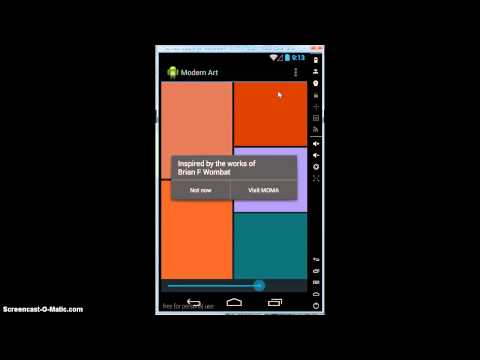Android Dev Modern Art Screencast
