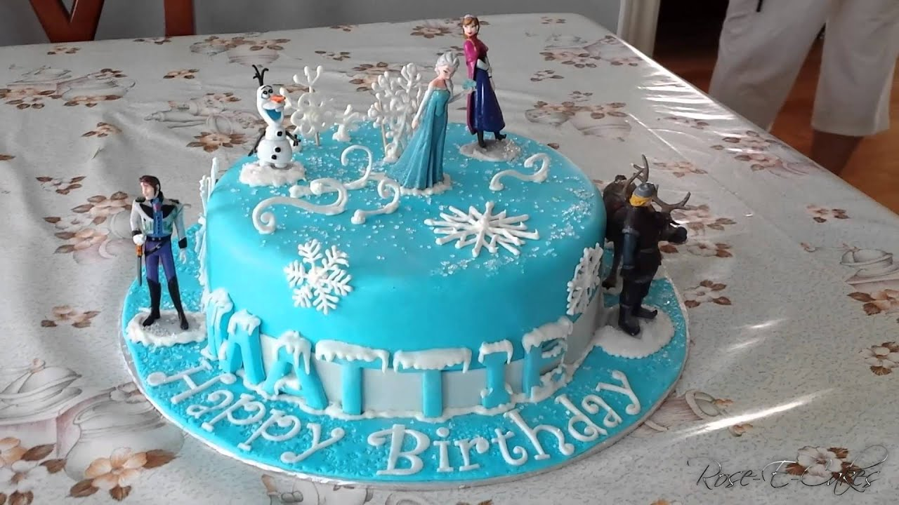 Frozen Cake Inspired by the Hit Disney Movie YouTube