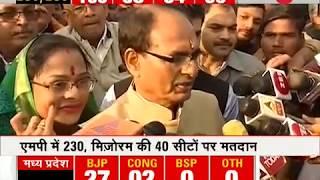 Election Breaking: Madhya Pradesh CM Shivraj Chouhan casts his vote in Budhni