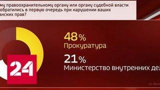ВЦИОМ: 48% россиян доверяют прокуратуре - Россия 24