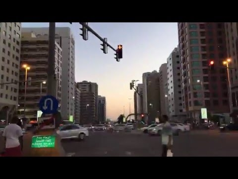 Time lapse On the way to Wahda Mall Abu Dhabi