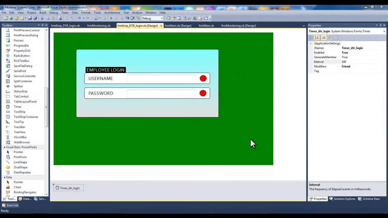 Vb Net Designing Login Form Without Using Photoshop