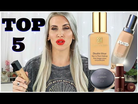 Top 5 FULL Coverage Foundations ||