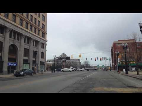 Gary, Indiana Downtown Driving