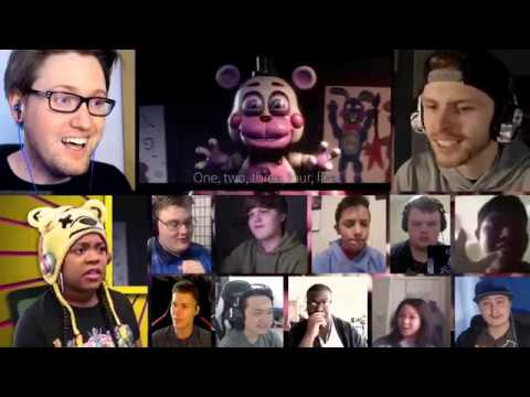 FNAF 6 SONG (Like It Or Not) LYRIC VIDEO - Dawko & CG5 [REACTION MASH-UP]#121