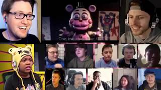 FNAF 6 SONG (Like It Or Not) LYRIC VIDEO - Dawko & CG5 [REACTION MASH-UP]#121